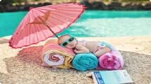 Bebês não devem usar protetor solar antes dos 6 meses