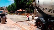Segurança e melhoria no trânsito: Adiantadas obras do recuo de ônibus no Largo dos Mendes
